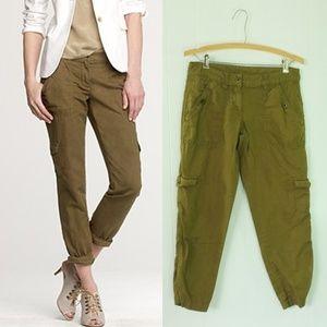 J. Crew Field Pant | Chic Green Crop Cargo Pants